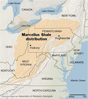 Marcellus Shale Map Northeast U.S.